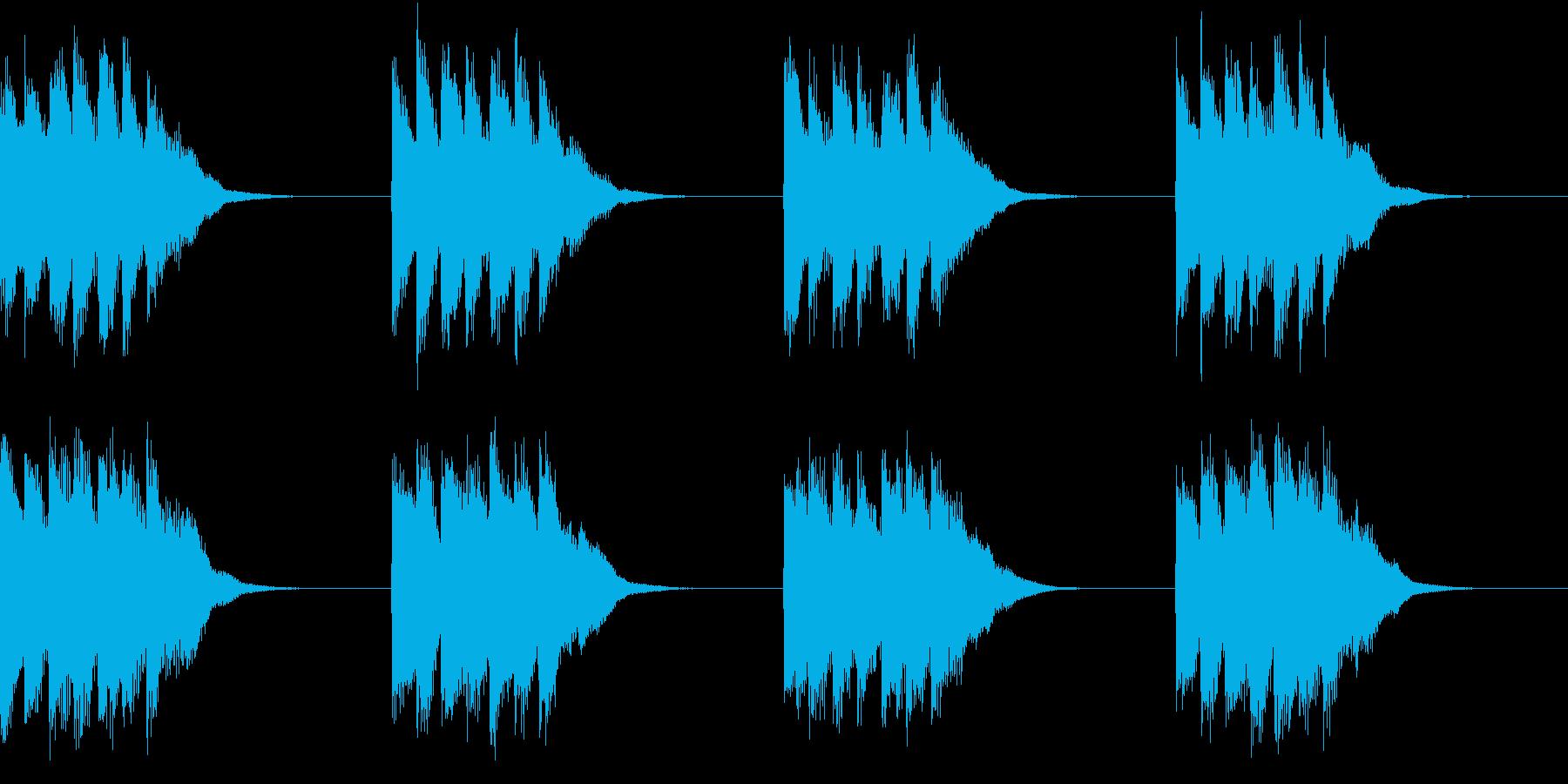 シンプル ベル 着信音 チャイム A-1の再生済みの波形