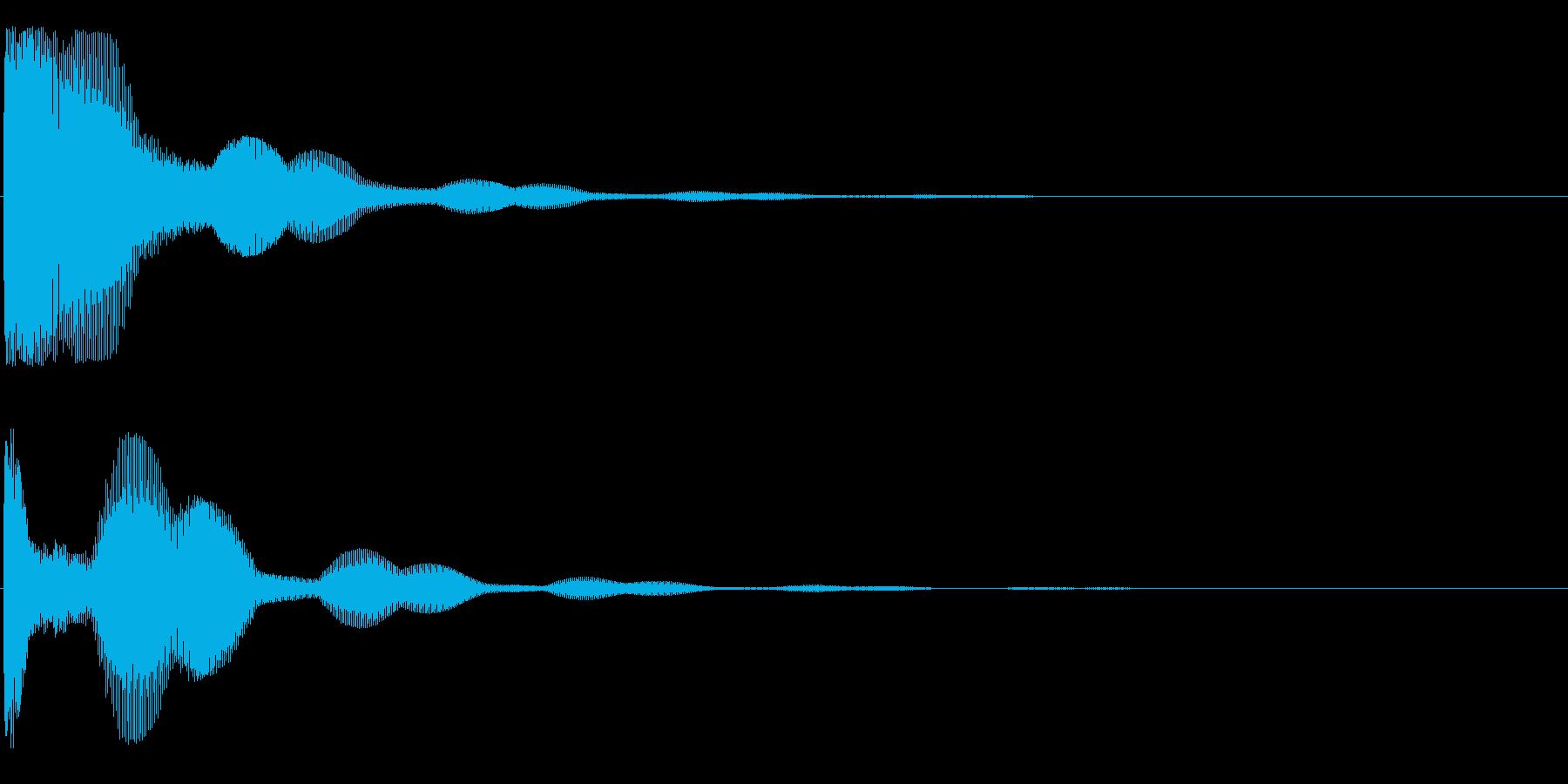 トゥ~~~ン(鐘系)の再生済みの波形