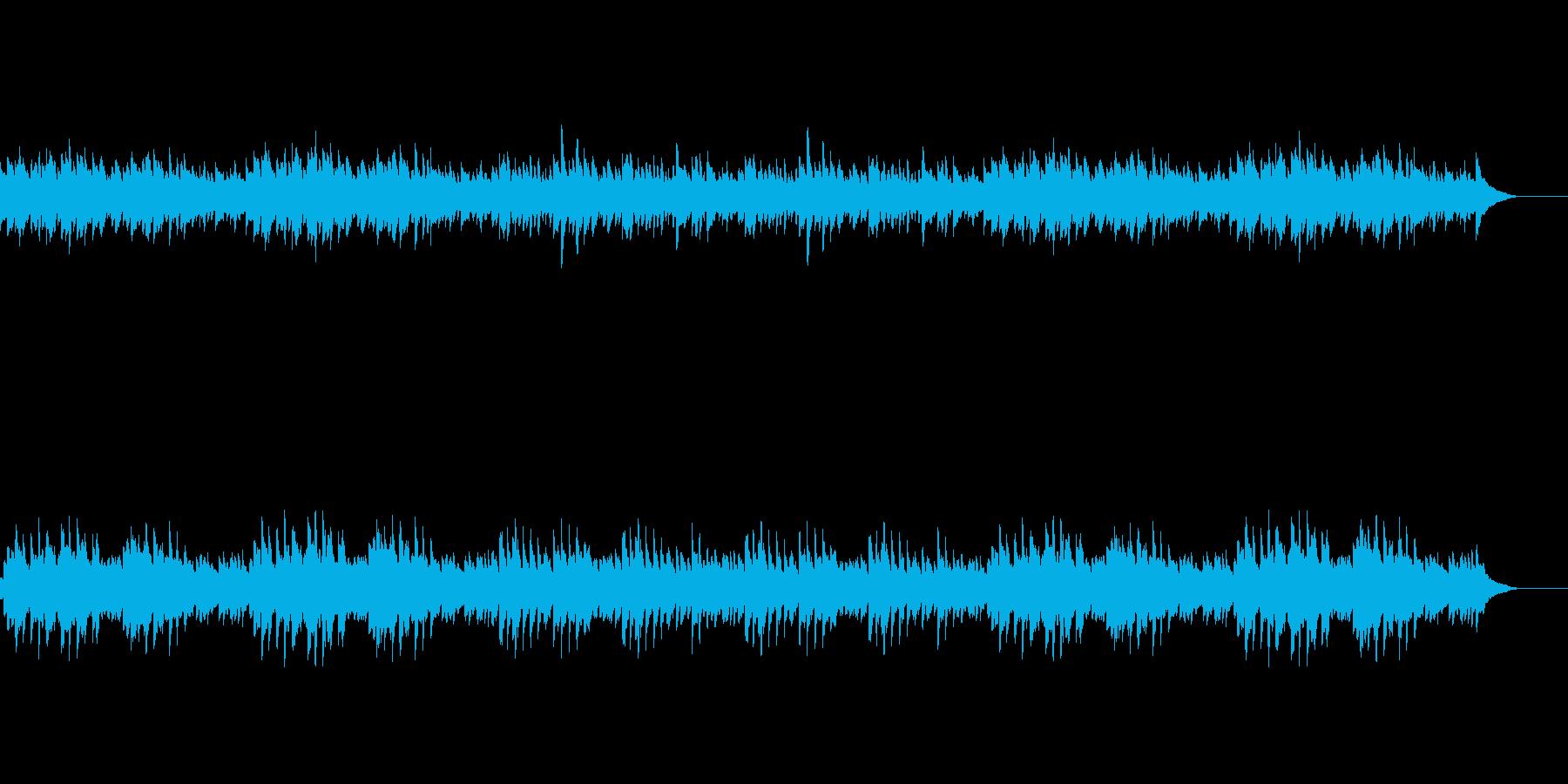 【平和で穏やかな風景】ピアノ・バージョンの再生済みの波形