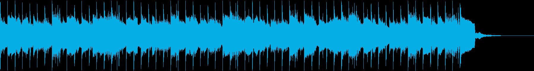 告知やCMなどに使えるポップなシンセの曲の再生済みの波形