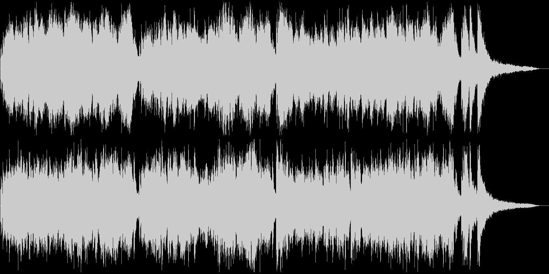 現代音楽風タイムラプス用ピアノソロ3分の未再生の波形