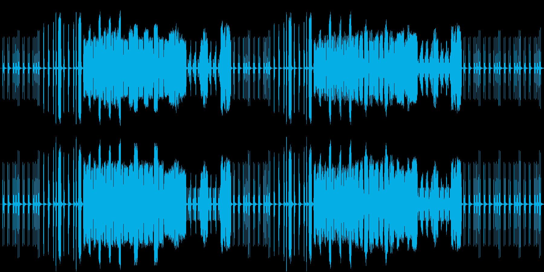 コミカルな動きをする虫をイメージした曲の再生済みの波形