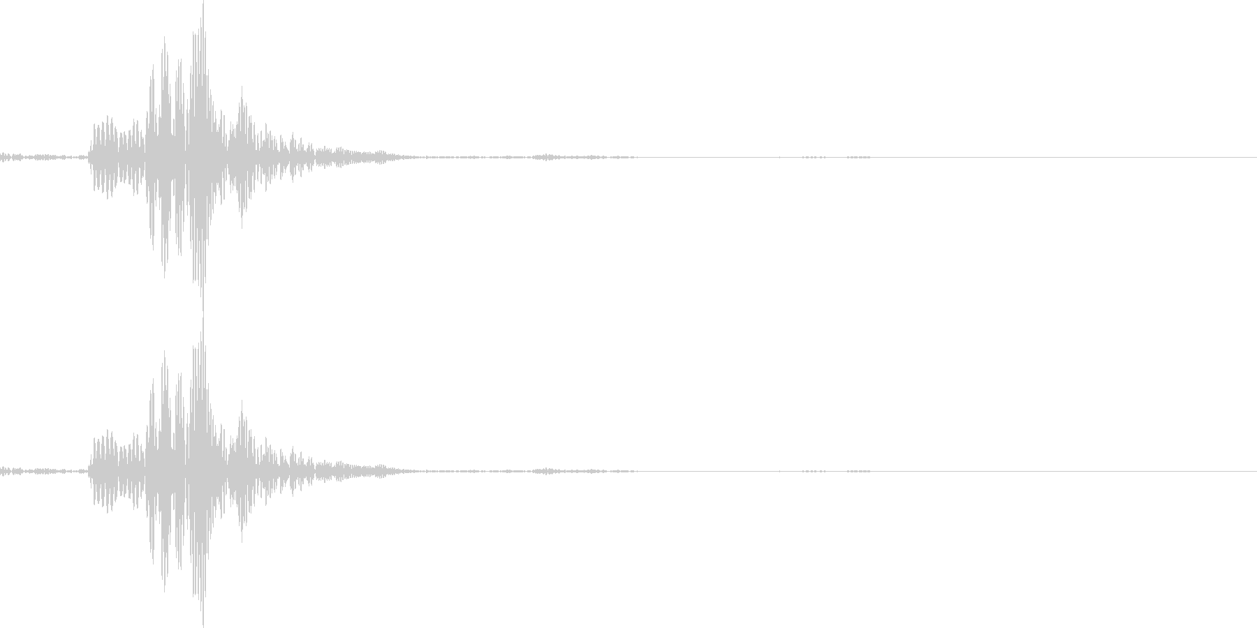 シャッ(アプリ決定音やチャットの送信音)の未再生の波形