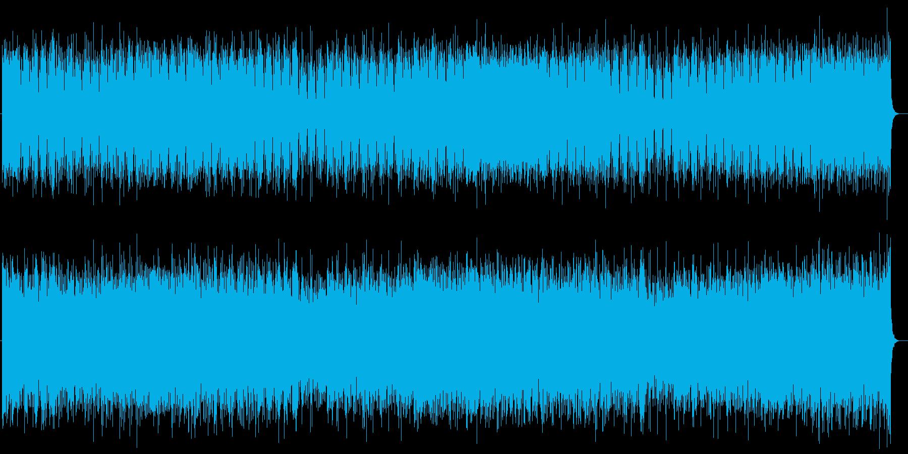シリアス感リズムピアノシンセサイザー曲の再生済みの波形