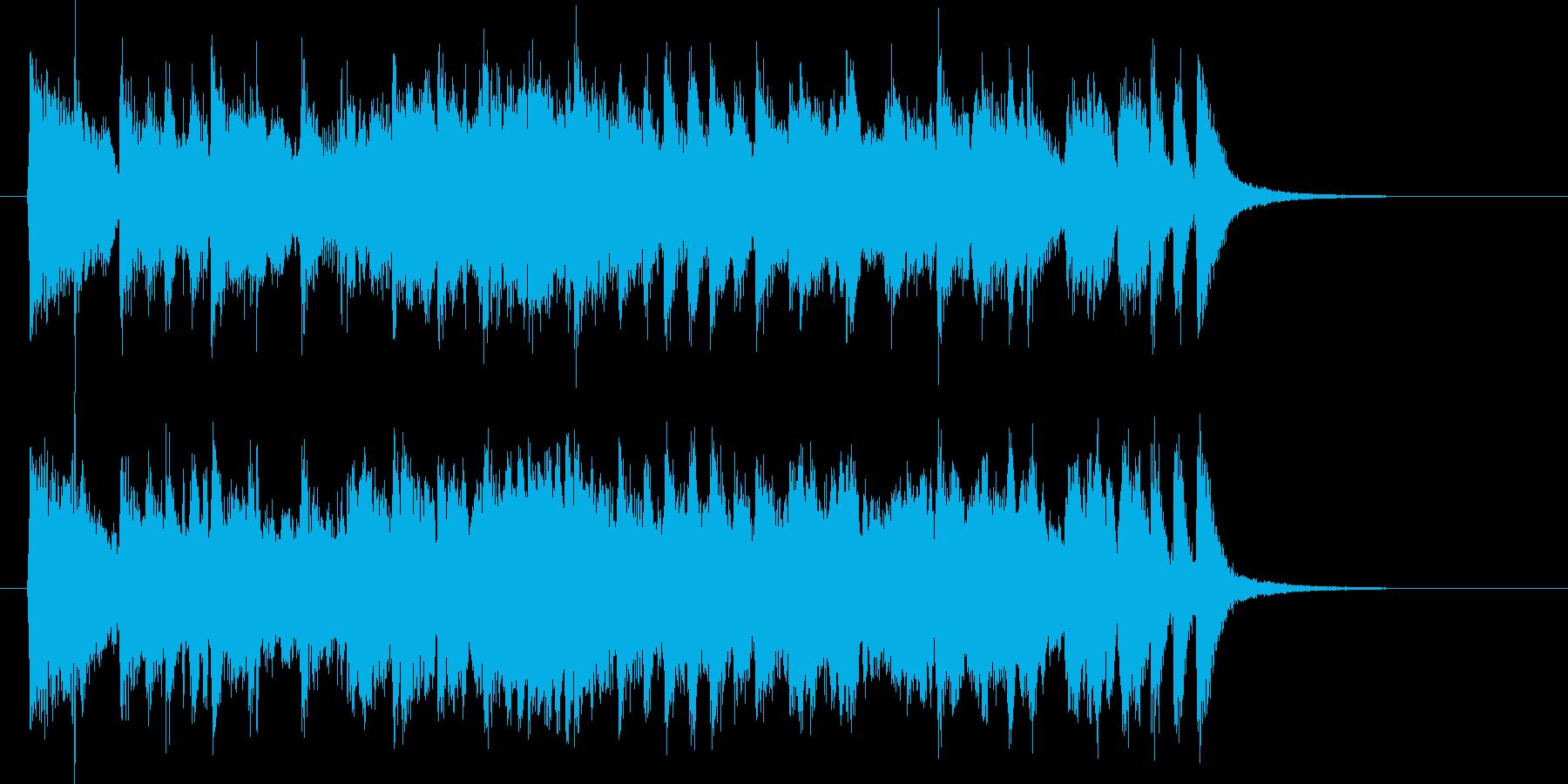 クラシカルで爽やかなバイオリンジングルの再生済みの波形