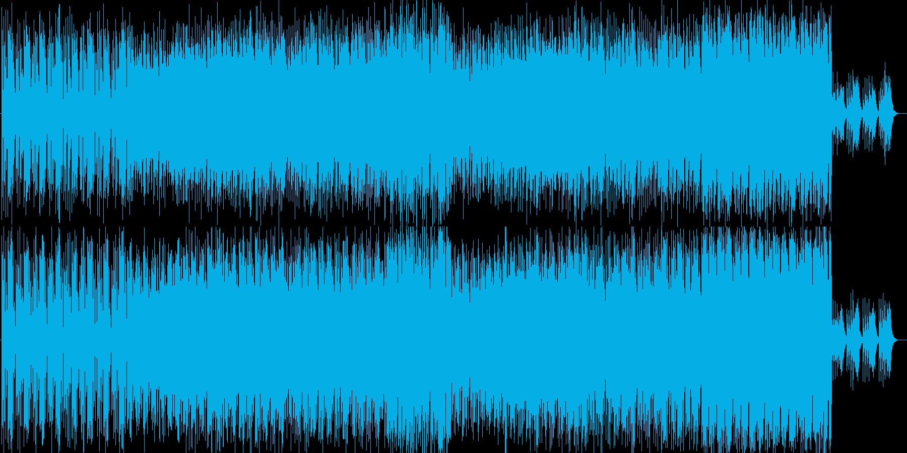 シリアスな近未来サウンドの再生済みの波形