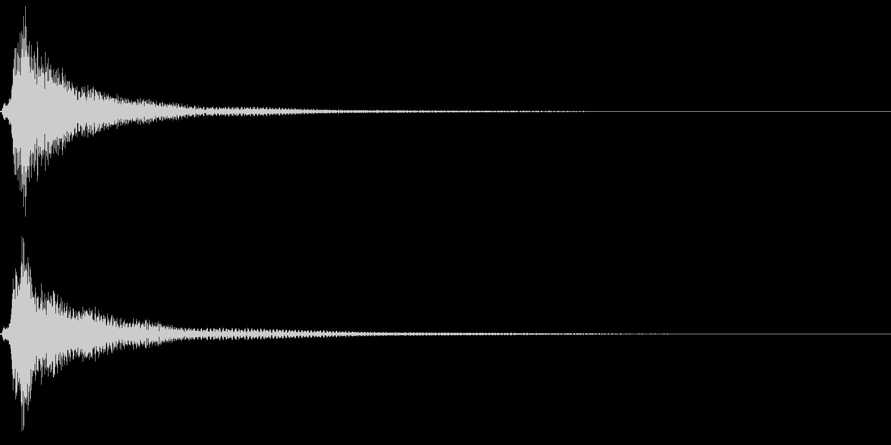 和風「タラン」琴のロゴ音2の未再生の波形