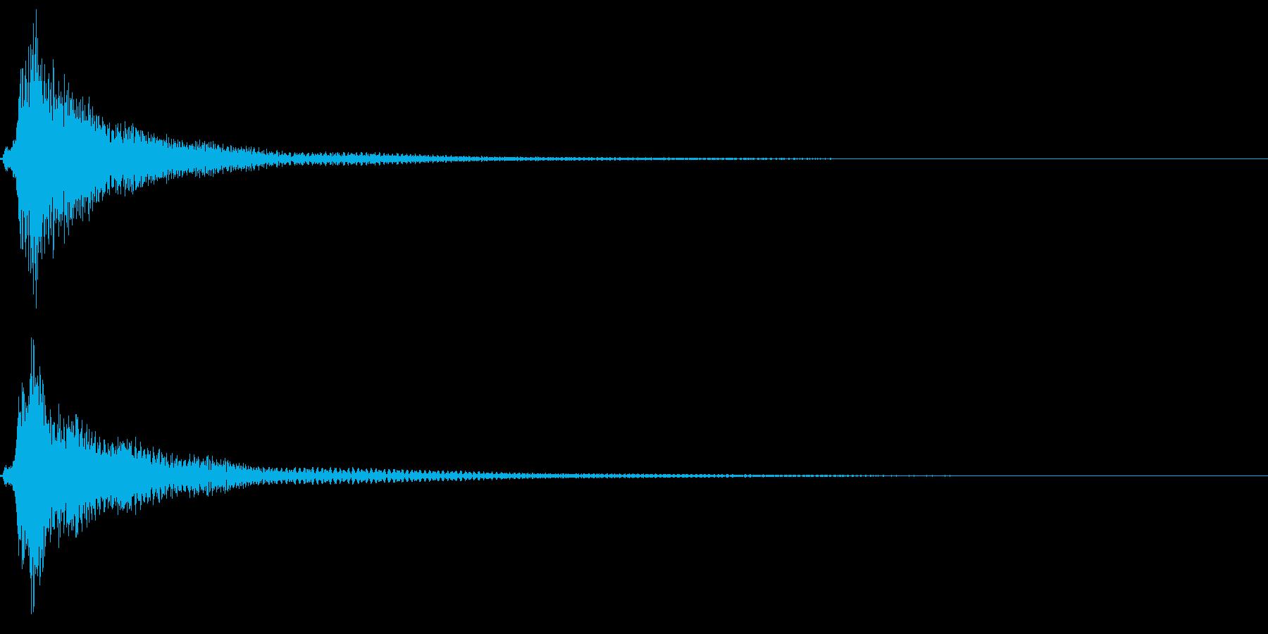 和風「タラン」琴のロゴ音2の再生済みの波形