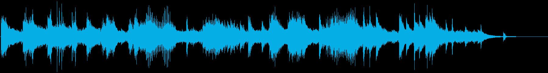 メロディアスで和風なクラシカルピアノ曲の再生済みの波形