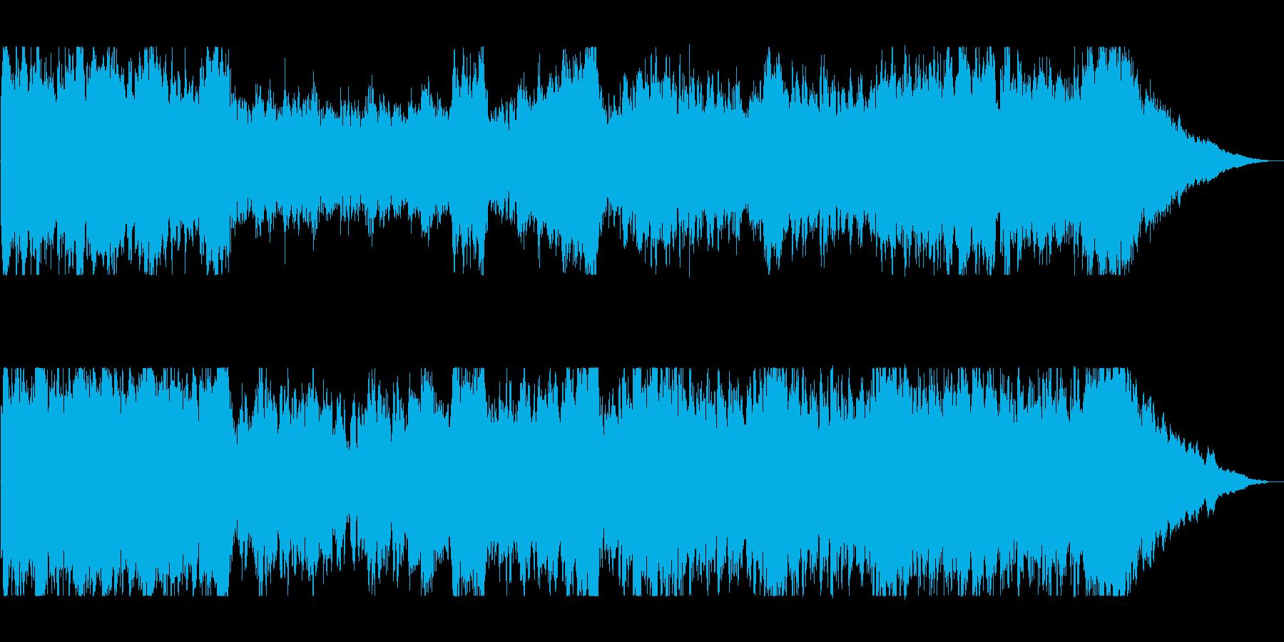 壮大でファンタジーな管弦打楽器サウンドの再生済みの波形