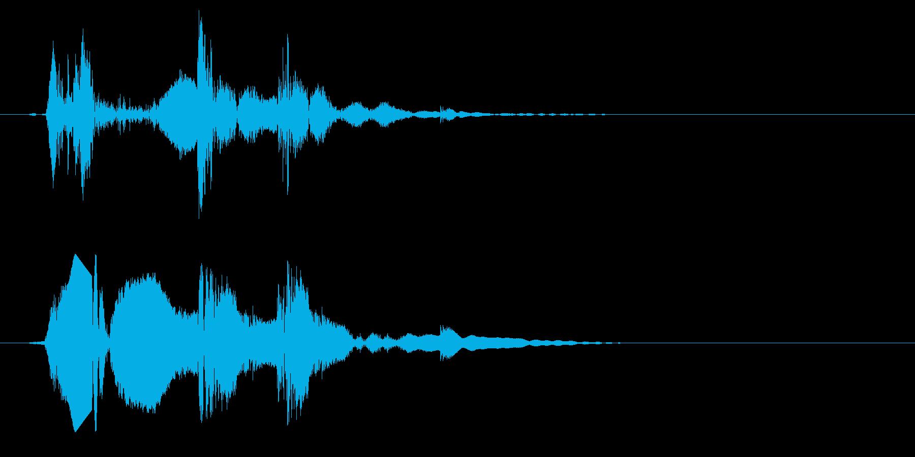 短い、一瞬のシャッター音の再生済みの波形
