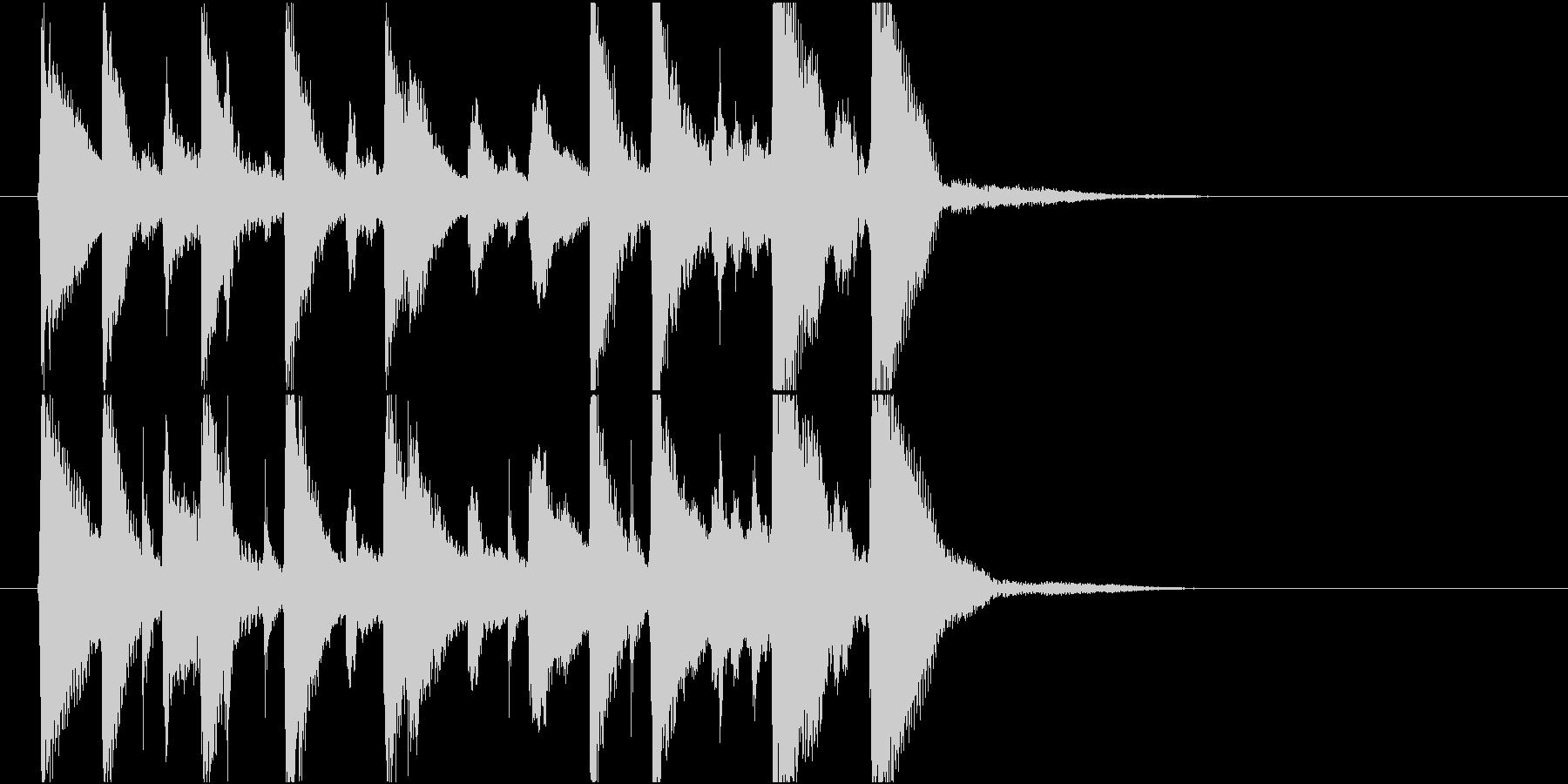 いたずらっぽく楽しいミディアムスイング3の未再生の波形