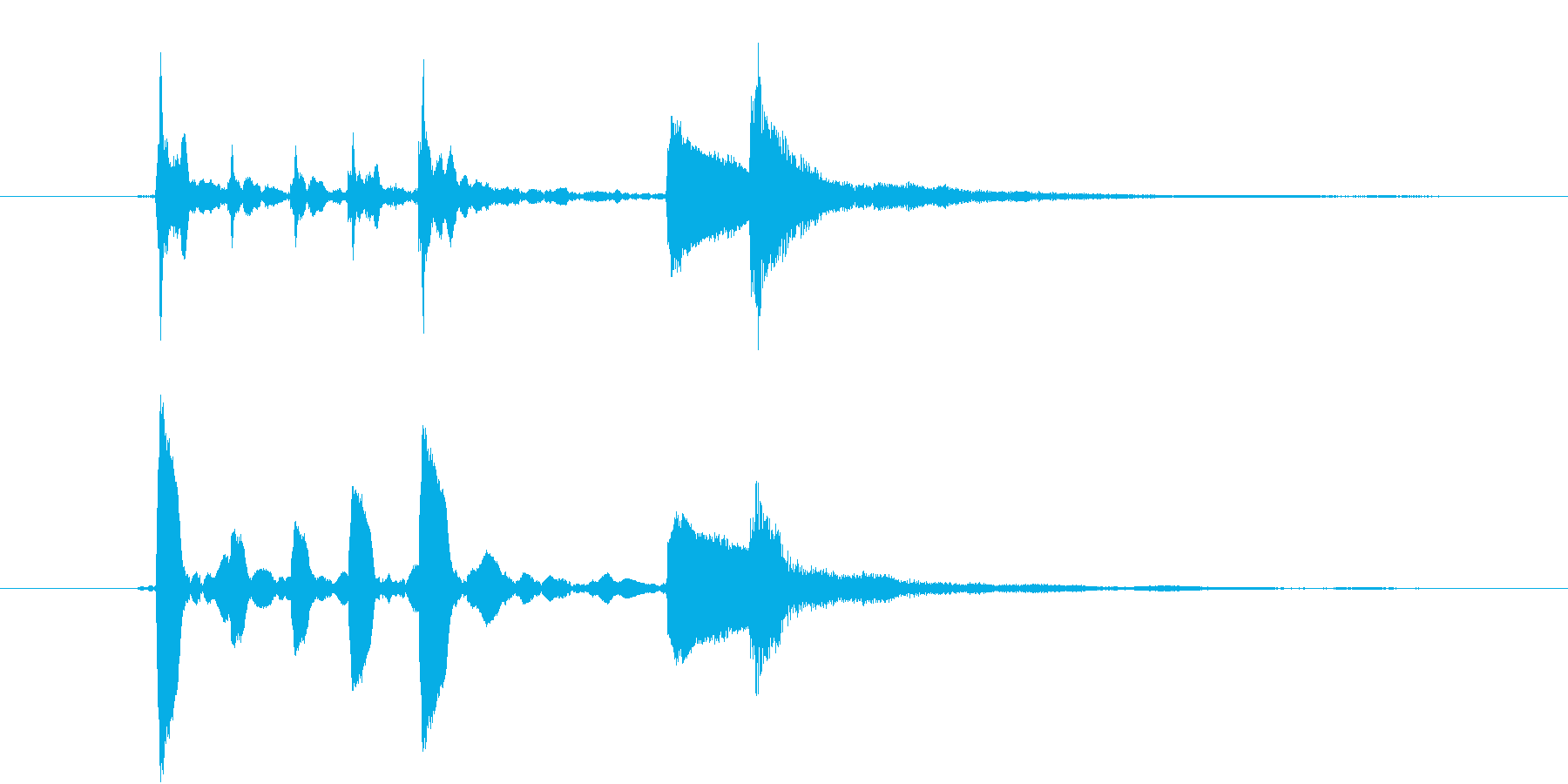 【生楽器録音】ヒヨコ可愛い場面転換①の再生済みの波形