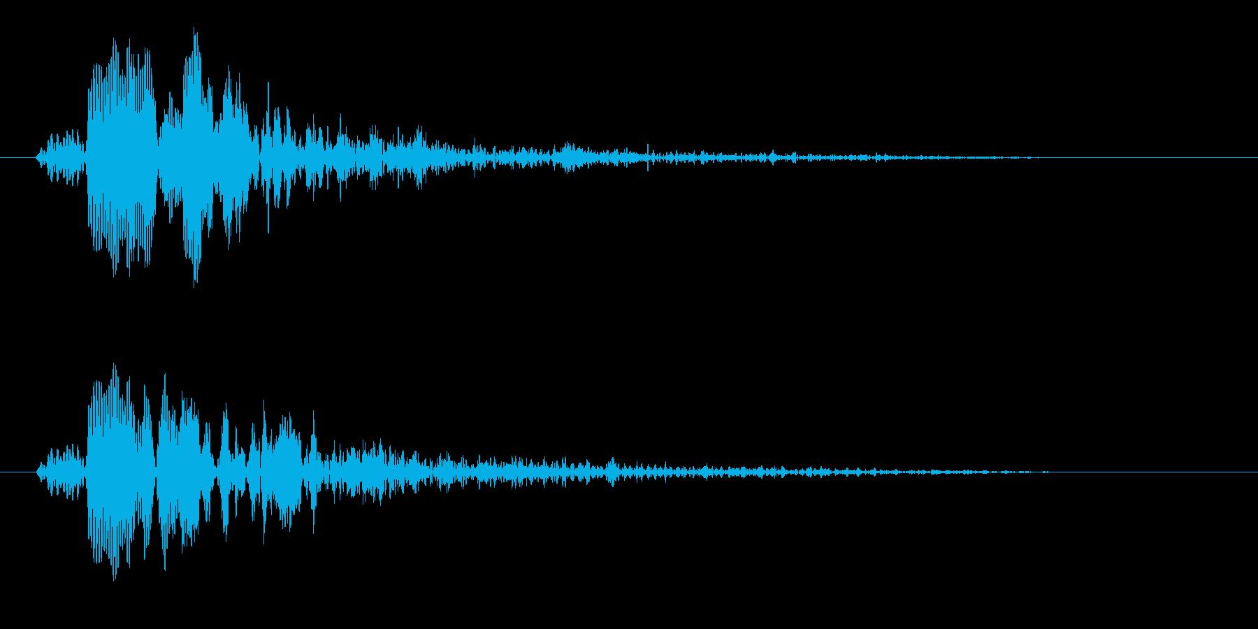 ピョン(ゲームのジャンプ音や決定音向け)の再生済みの波形