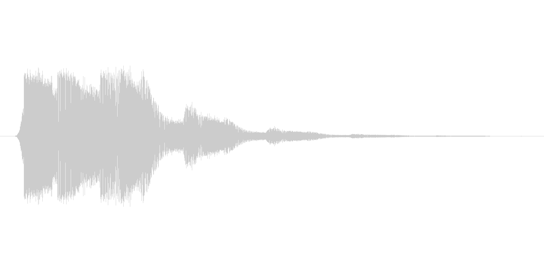 ファミコン風効果音決定音系です 01の未再生の波形