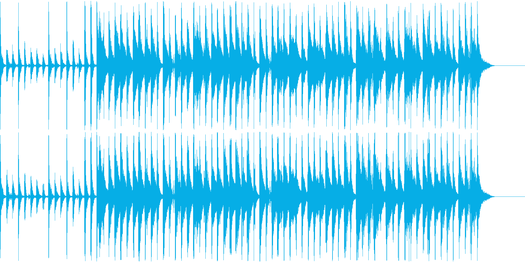 サンバ風のBGMの再生済みの波形
