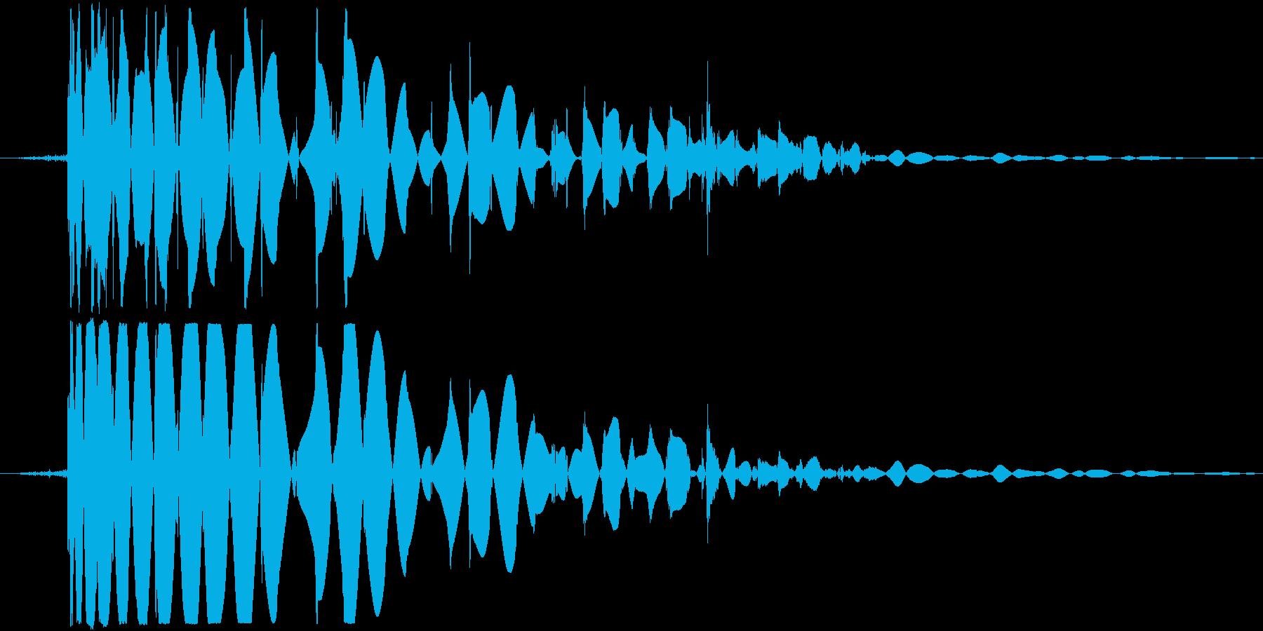 ドゴッ!という打撃音ですの再生済みの波形