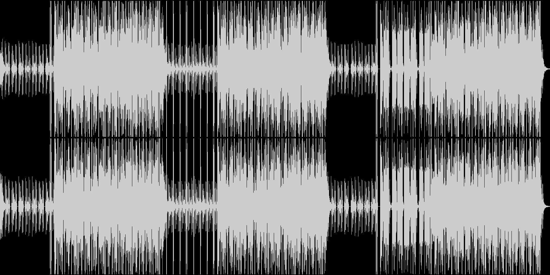 密林の中をイメージした曲の未再生の波形