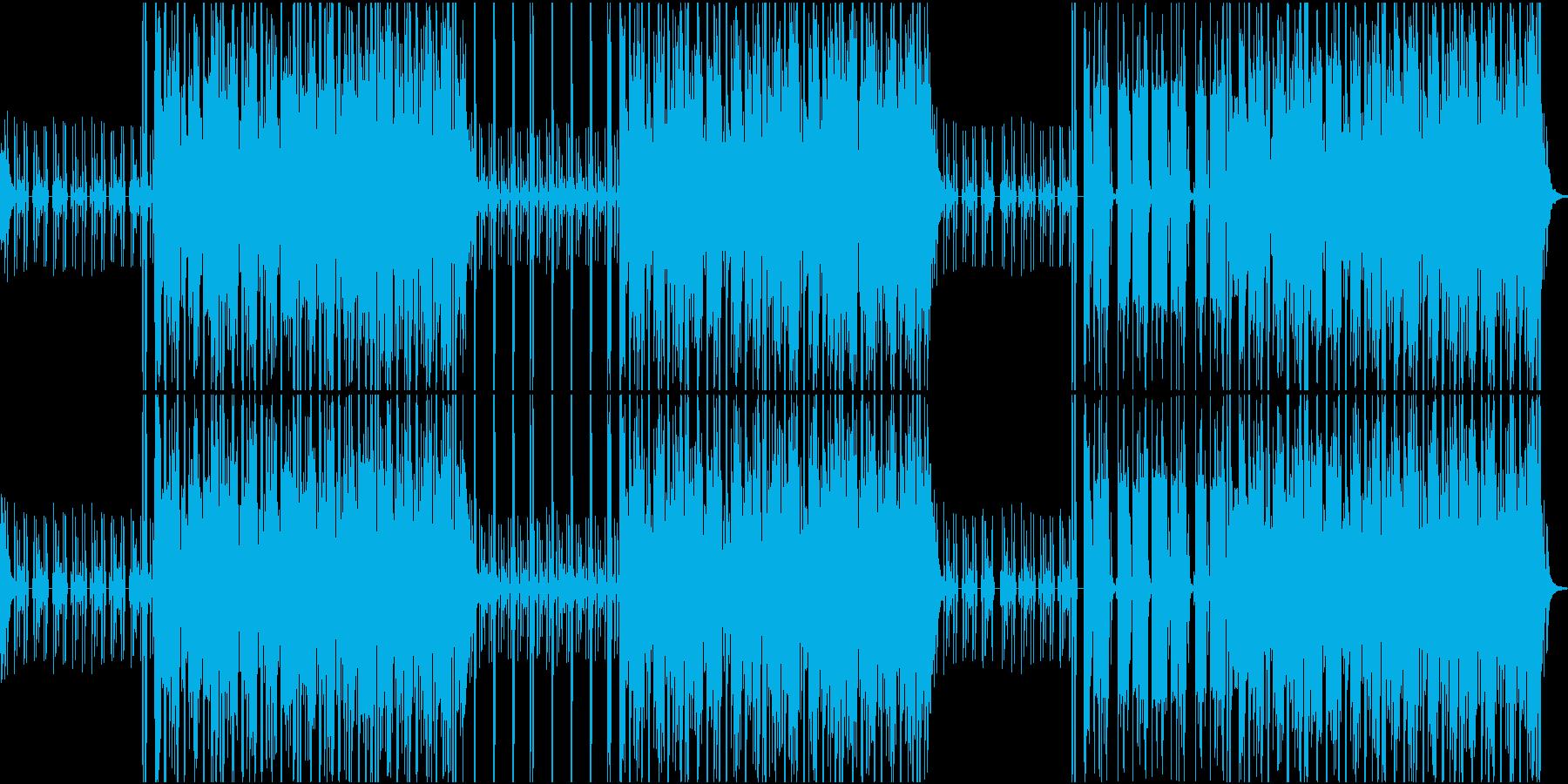 密林の中をイメージした曲の再生済みの波形