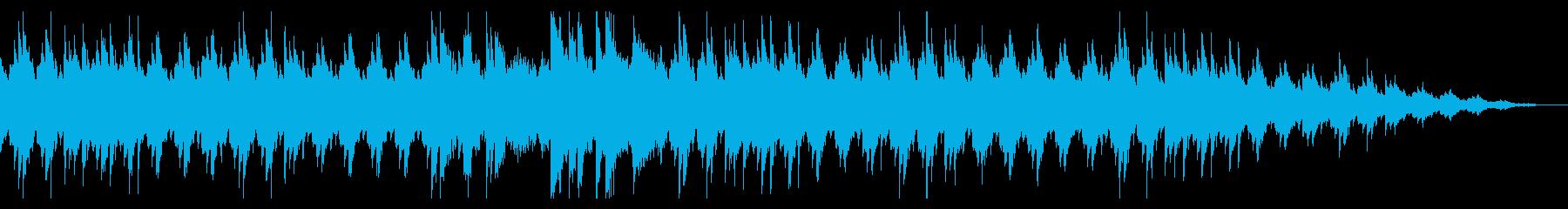 ピアノが主体の悲しいBGMの再生済みの波形