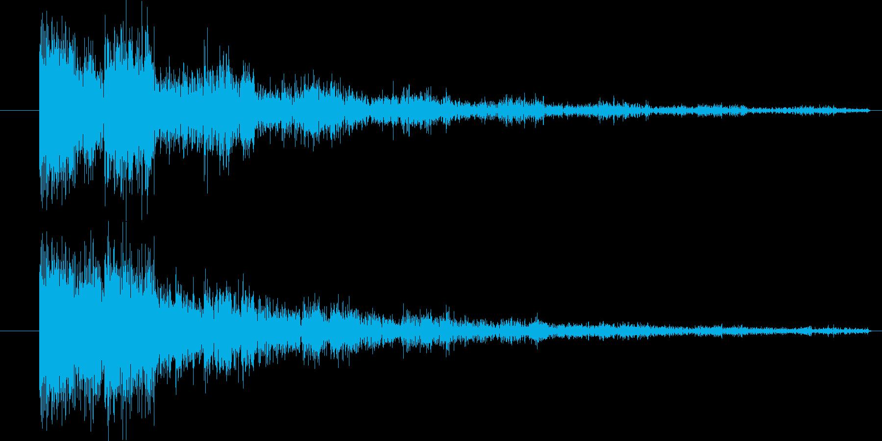 ドカーン(ボスを倒した効果音)の再生済みの波形