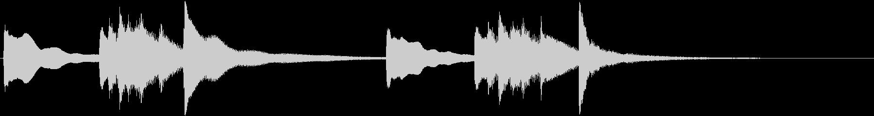 お正月の定番曲「春の海」から冒頭のフレ…の未再生の波形