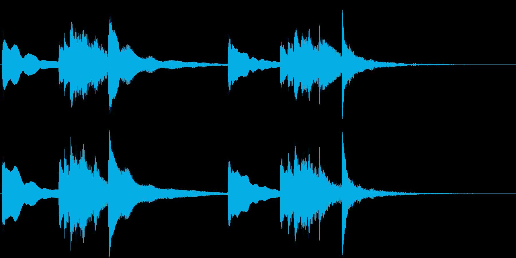 お正月の定番曲「春の海」から冒頭のフレ…の再生済みの波形