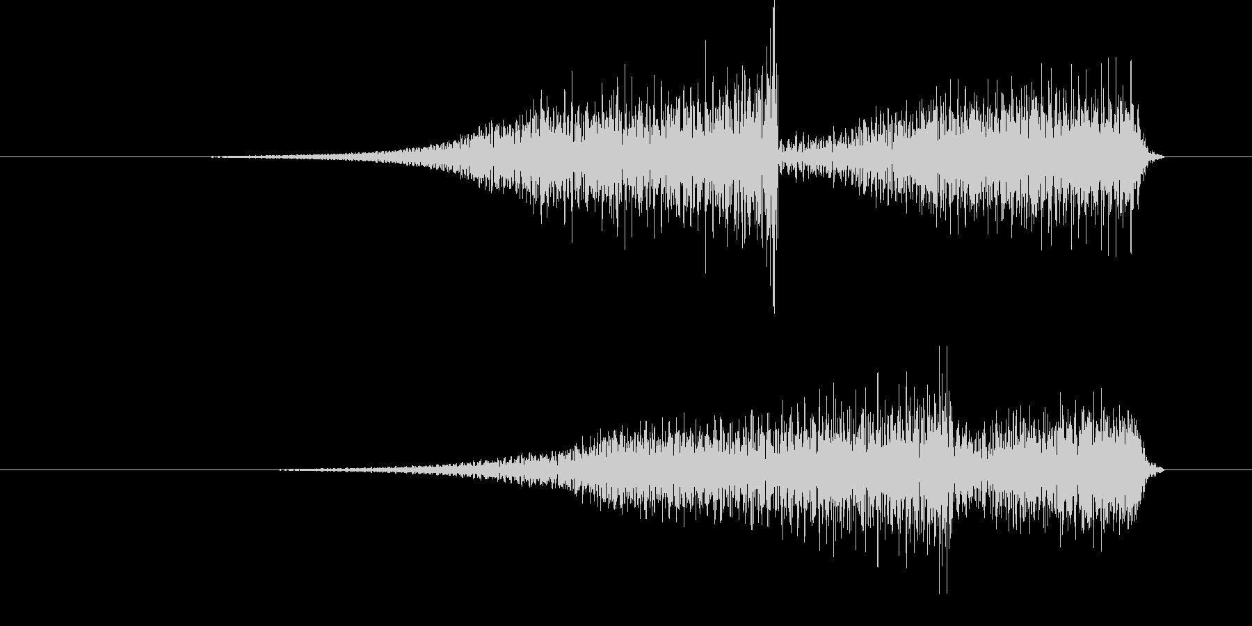 ブワブワッ (怪奇な音)の未再生の波形
