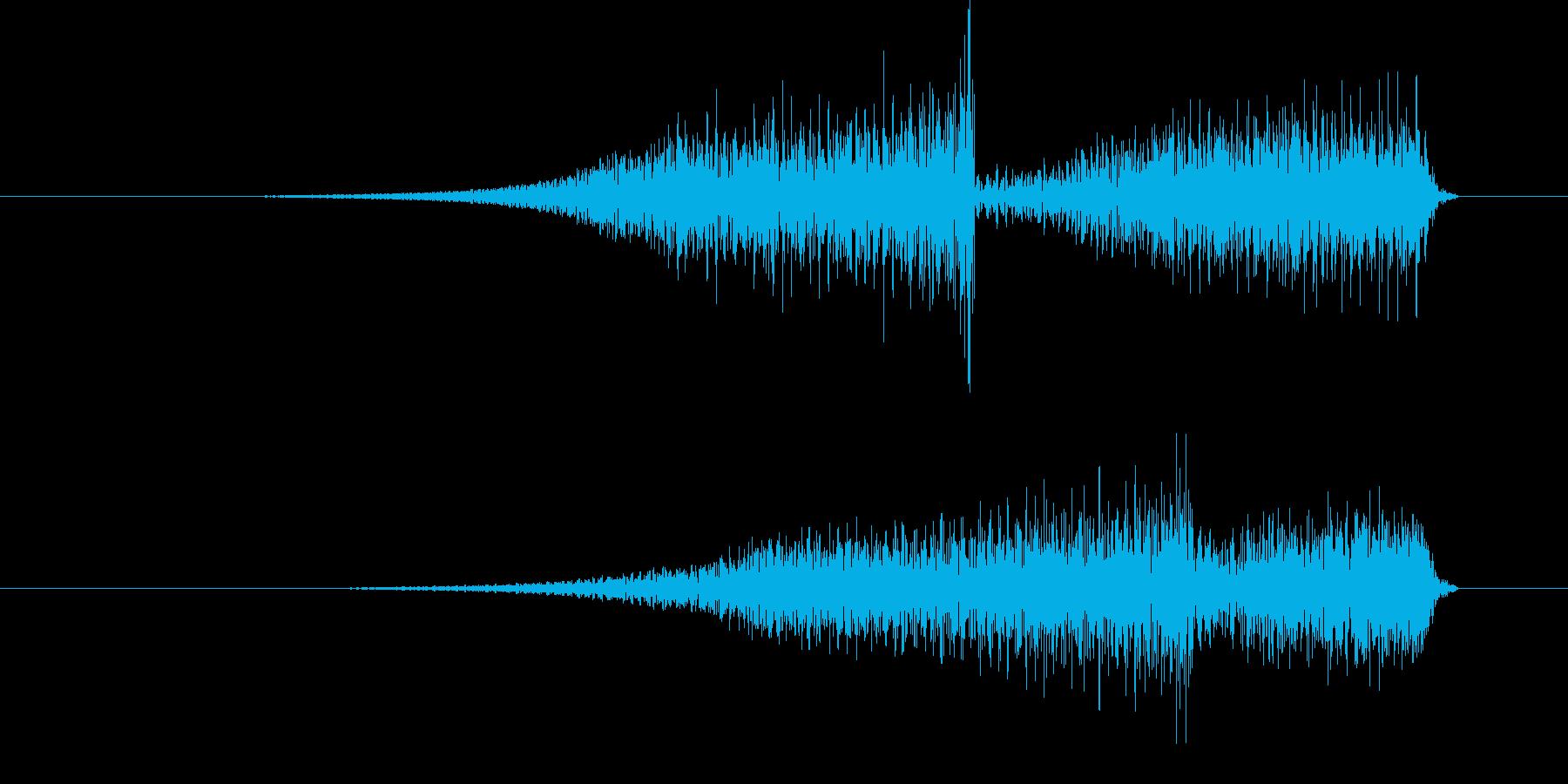 ブワブワッ (怪奇な音)の再生済みの波形