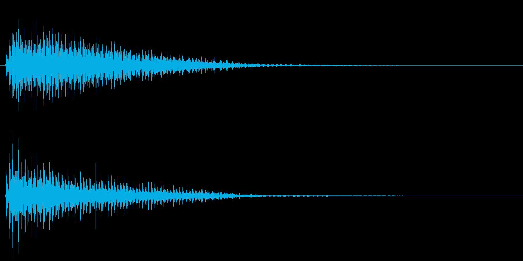 カァァァァ!(バラエティや時代劇でみる)の再生済みの波形