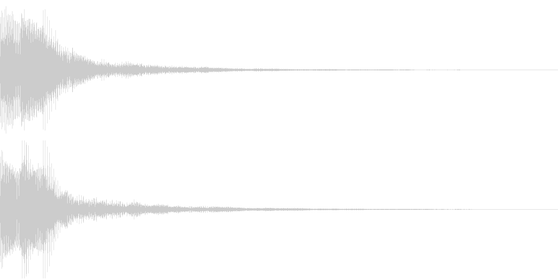 Moog ファットなコマンド音 2の未再生の波形
