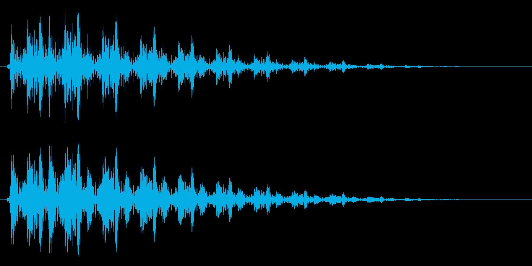 ピュルルン(綺麗で軽く飛ぶような軽い音)の再生済みの波形