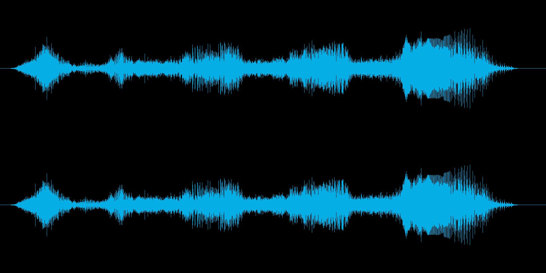 そいやっ そいや!!×2 男性和風掛声 の再生済みの波形
