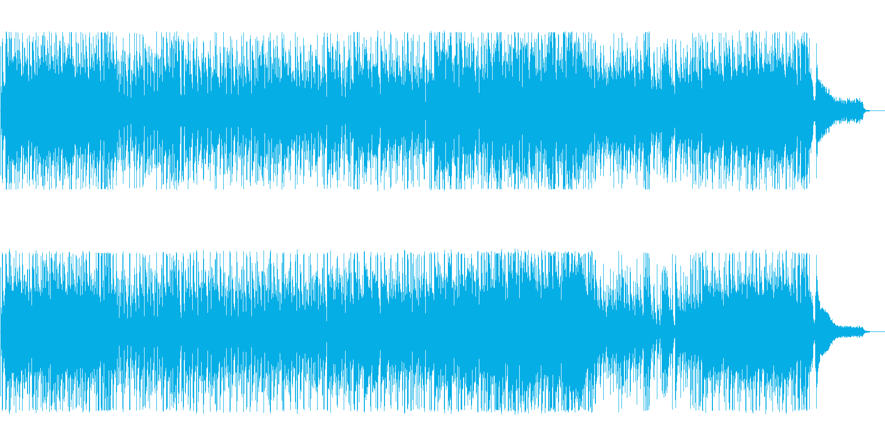 キラキラしたさわやかなポップスの再生済みの波形