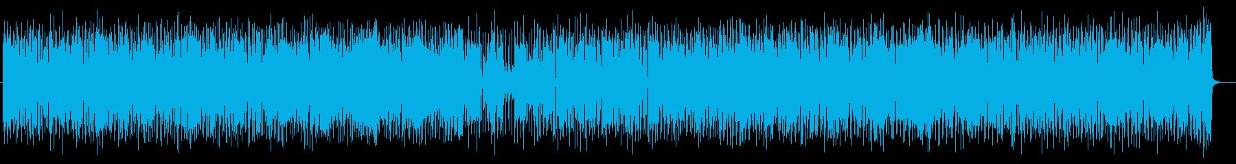 リズミカルなメロディが特徴のポップスの再生済みの波形