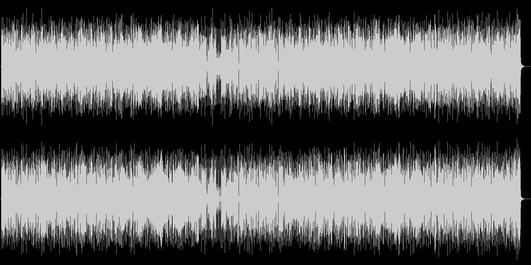 リズミカルなメロディが特徴のポップスの未再生の波形