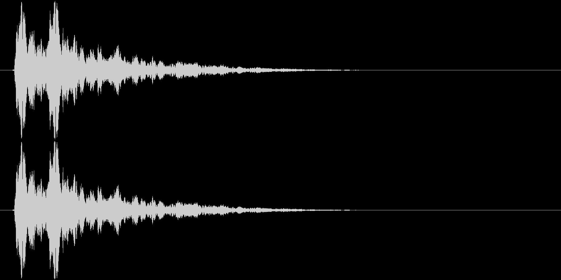 ピッ(キラキラ、選択、決定)の未再生の波形