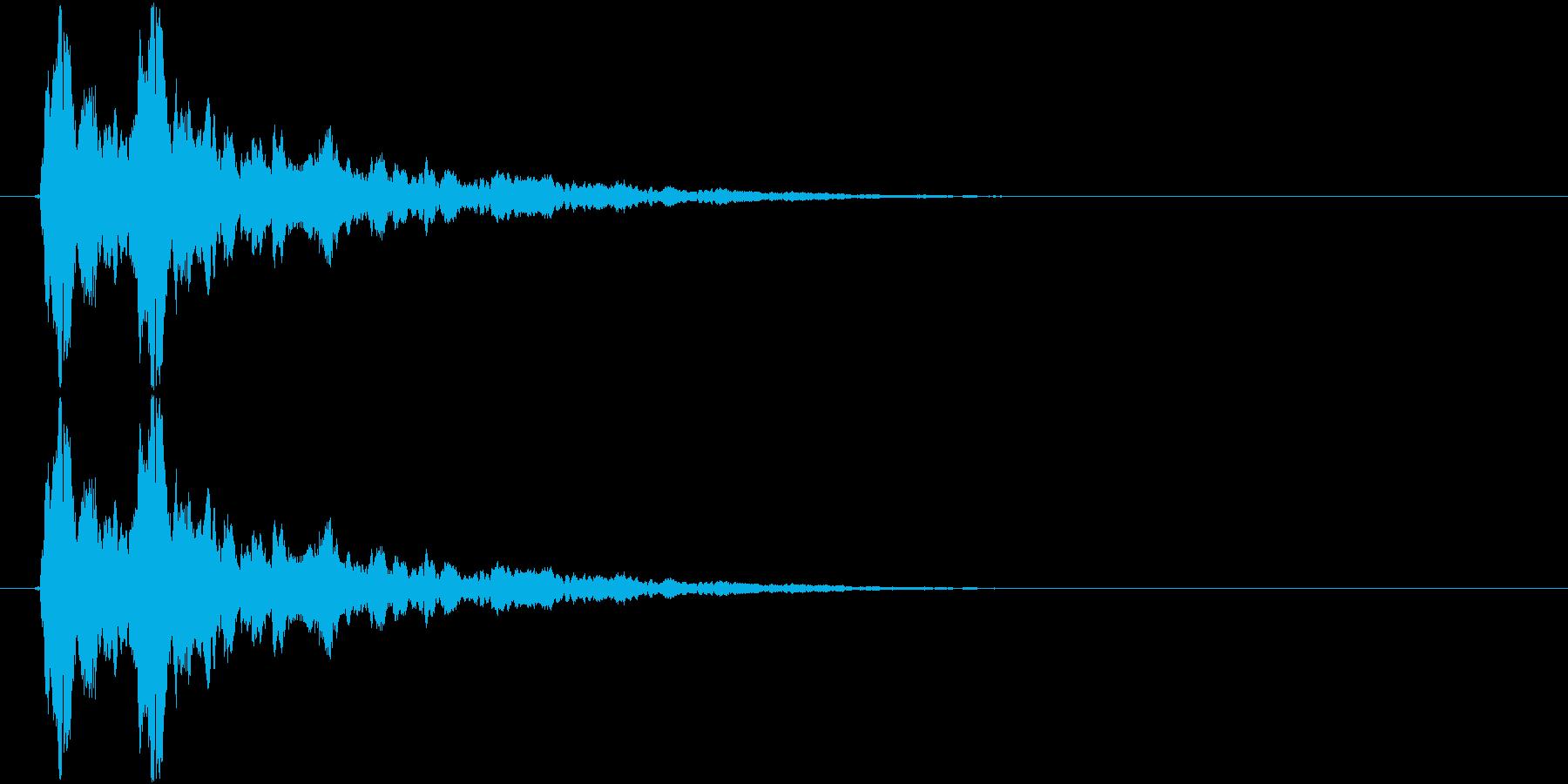 ピッ(キラキラ、選択、決定)の再生済みの波形