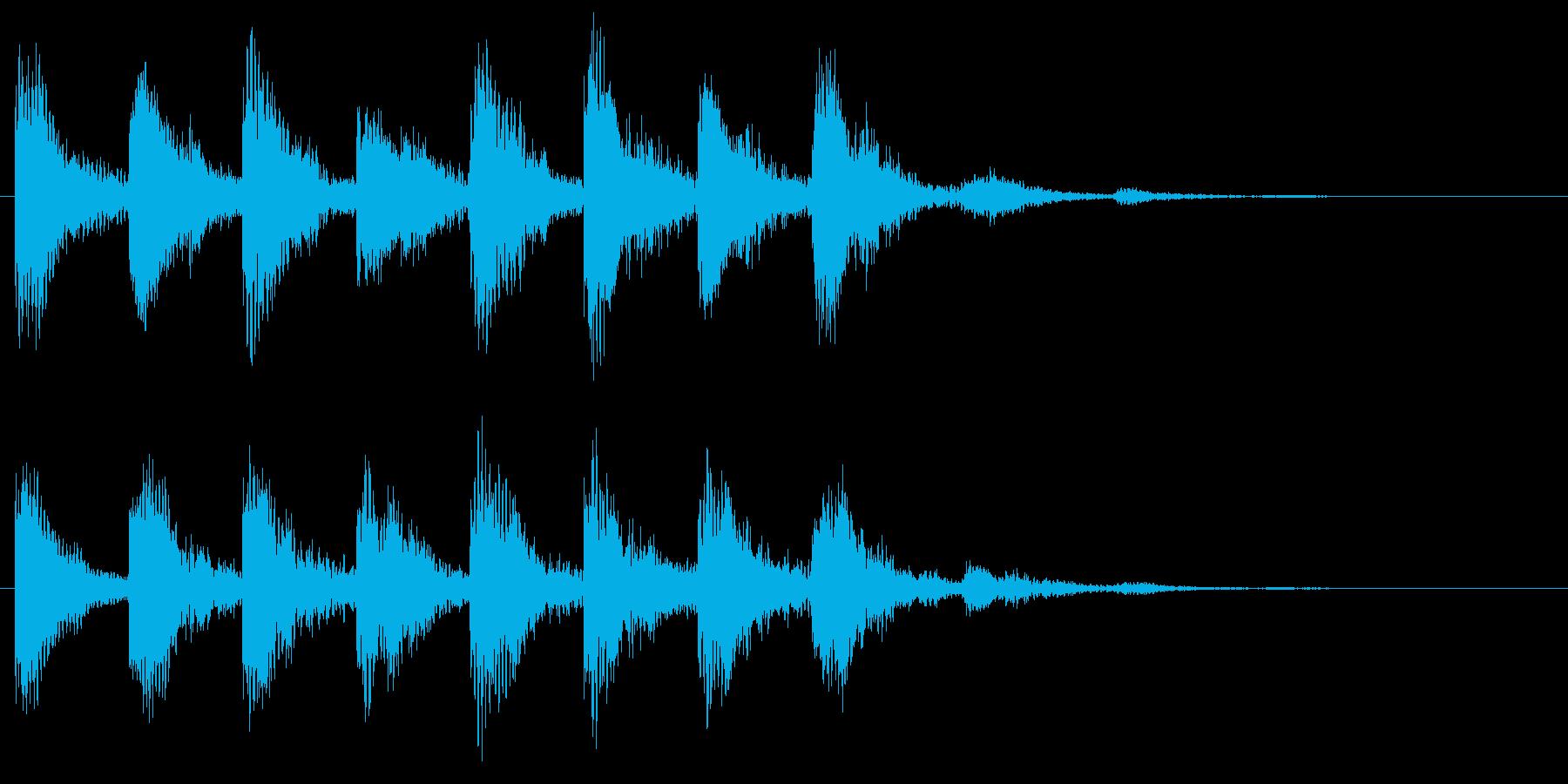 不安や心配の音 危険 ホラー サスペンスの再生済みの波形