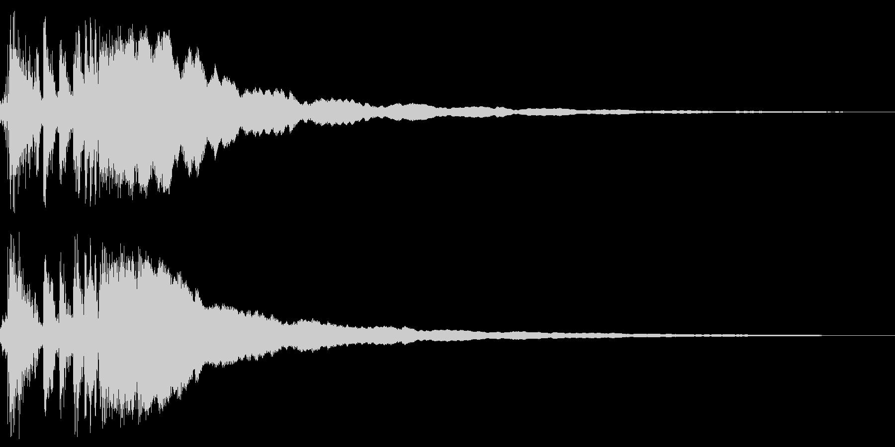 レジスターの清算音(ガチーン)の未再生の波形
