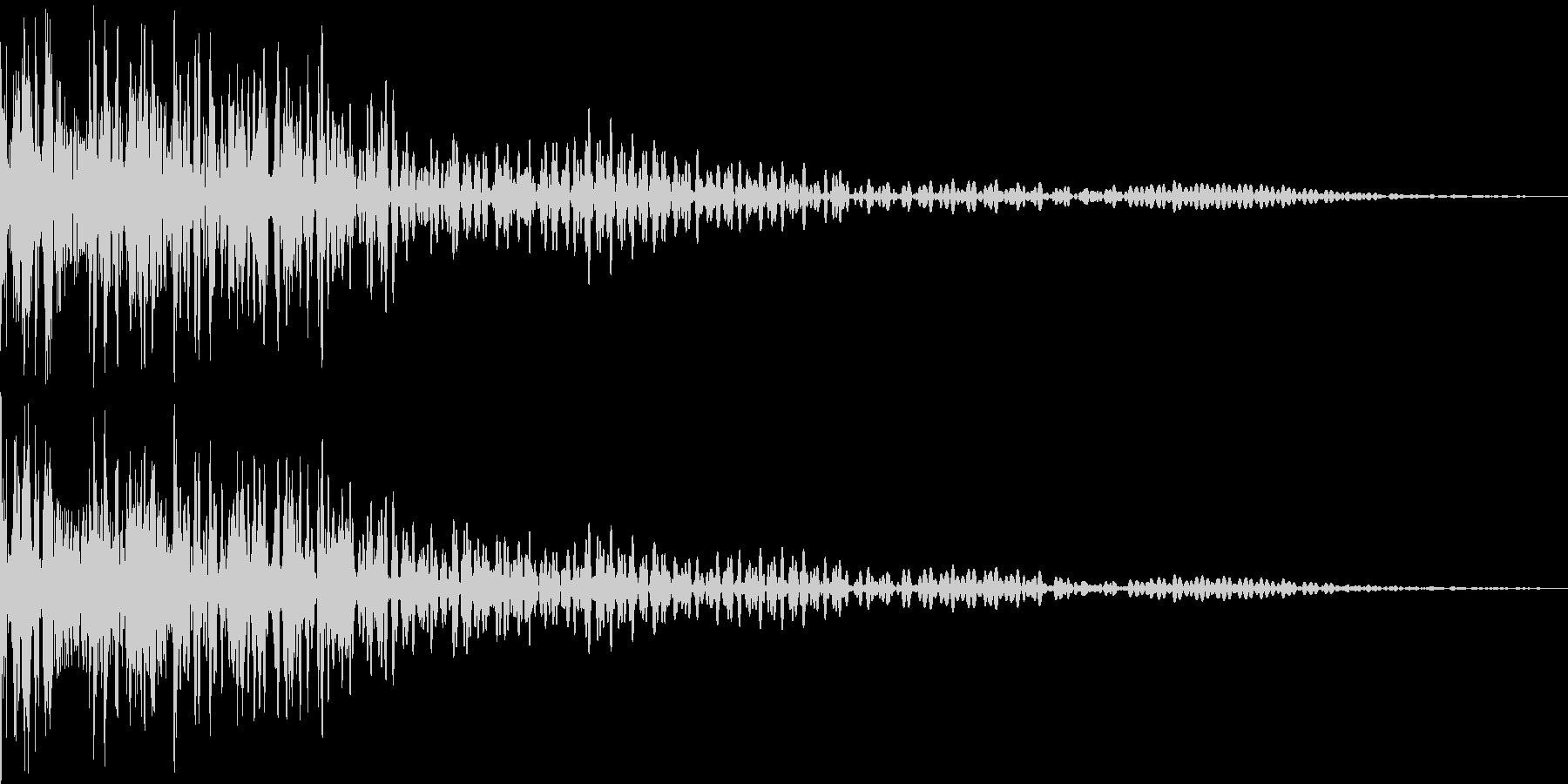 魔物の鳴き声の未再生の波形