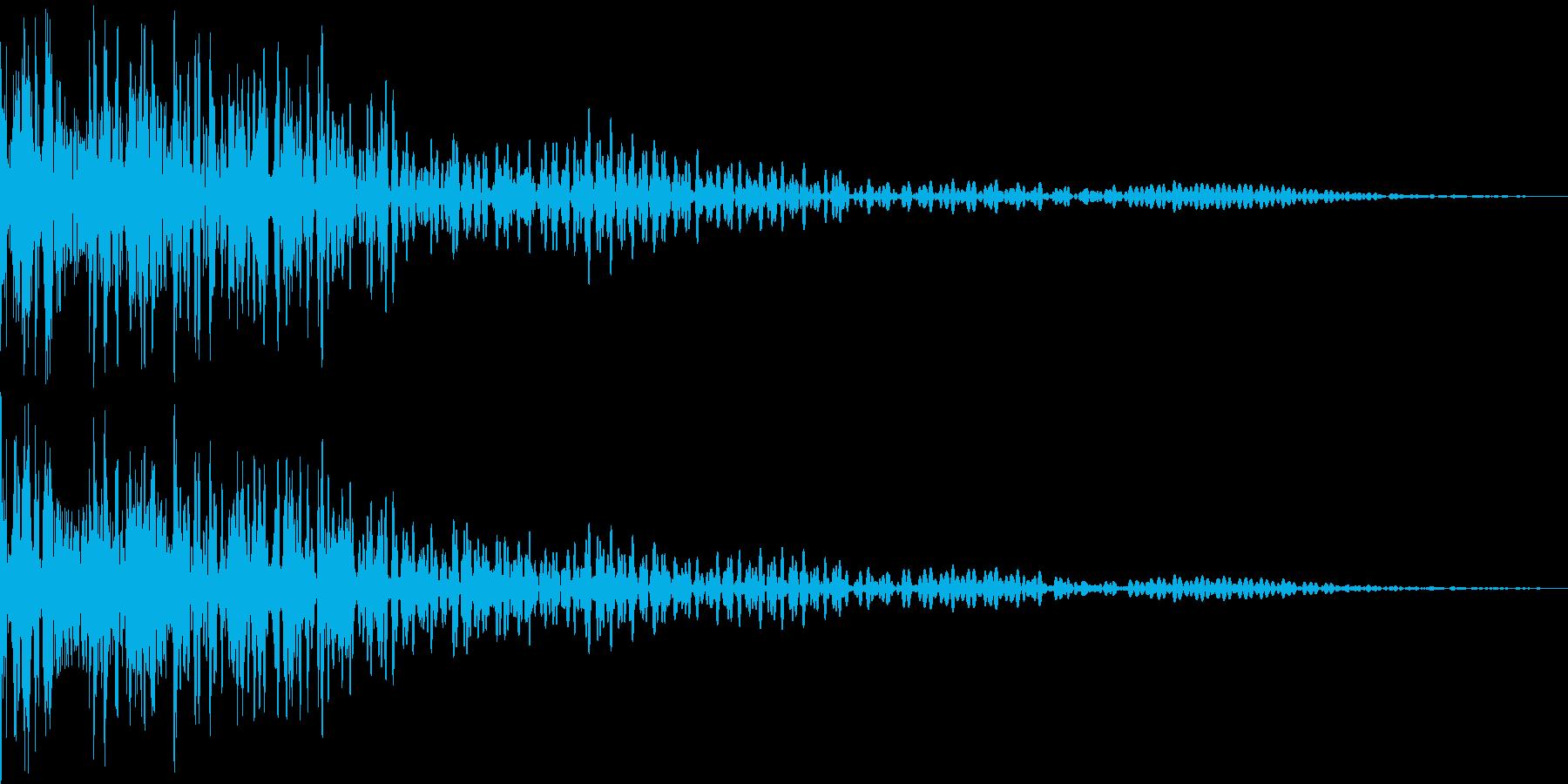 魔物の鳴き声の再生済みの波形
