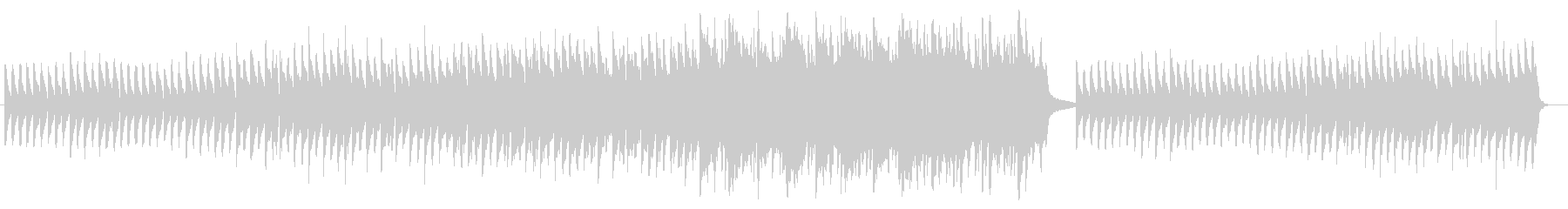 ゆっくりとしたピアノのバラードの未再生の波形