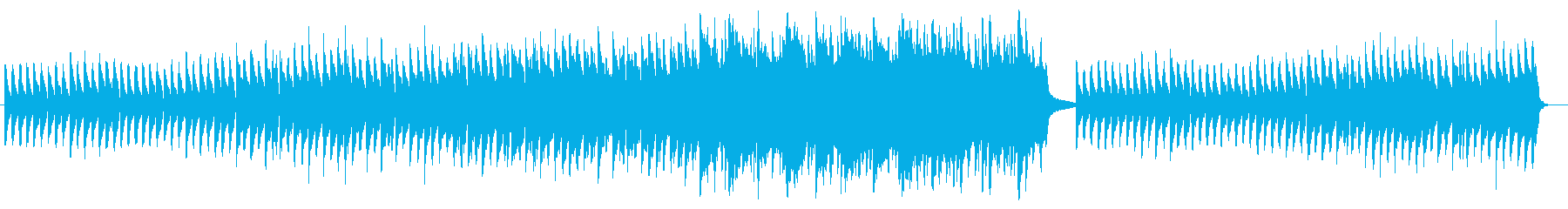 ゆっくりとしたピアノのバラードの再生済みの波形