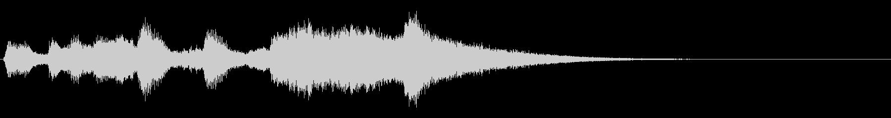 トランペットと打楽器のファンファーレの未再生の波形
