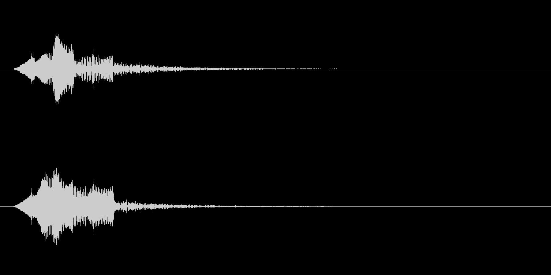 ピロリン↑(上昇する音階)の未再生の波形