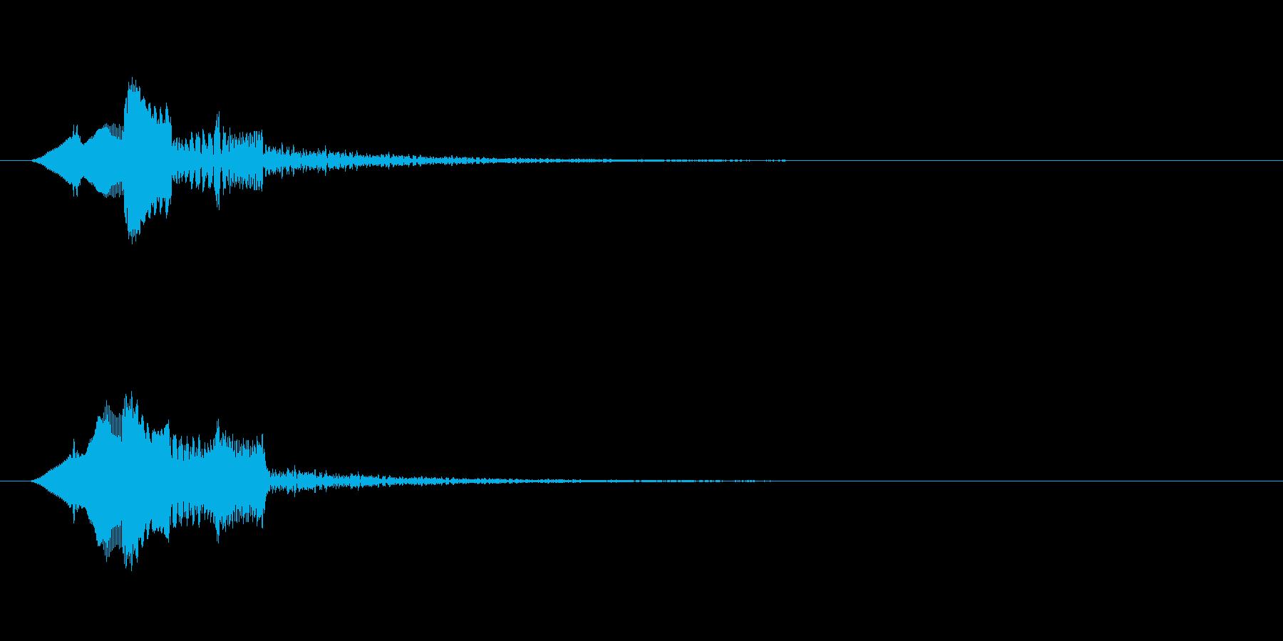 ピロリン↑(上昇する音階)の再生済みの波形