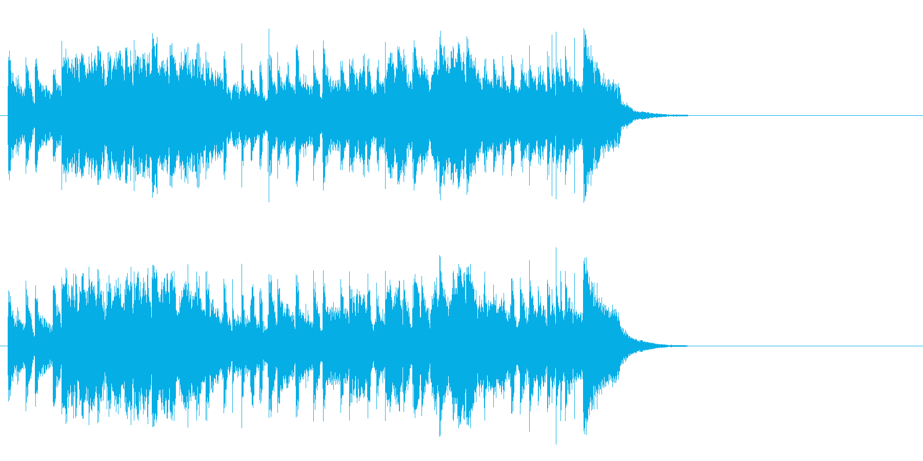 春の陽射しのフュージョン(イントロ)の再生済みの波形