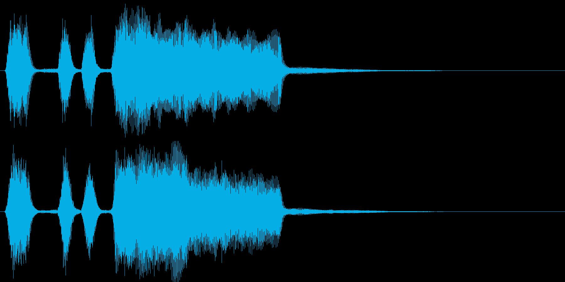 パンパカパーン(シンプルファンファーレ)の再生済みの波形