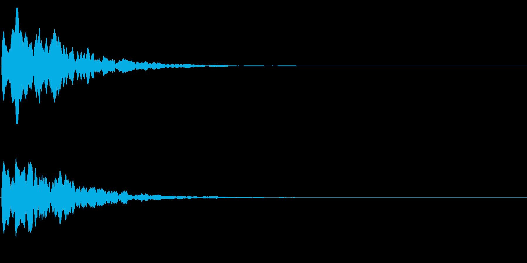 ゲームスタート、決定、ボタン音-147の再生済みの波形